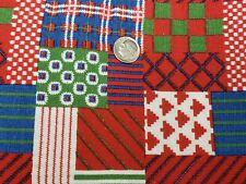 Best Vintage Feedsack Quilt Fabric 40s Vibrant Patchwork Red + Flour Full Sack