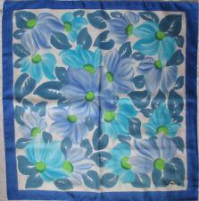 -Superbe Foulard  GOR DANE Lyon 100% soie  TBEG vintage scarf 86 x 90 cm