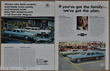 1968 Chevrolet Station Wagons adverts x2, CHEVELLE Malibu, Impala Caprice Nomad