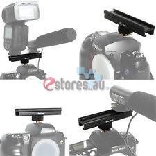 "Microphone LED 4"" Hot Shoe Cold Shoe Extension Rail Bar For Canon Nikon Camera"