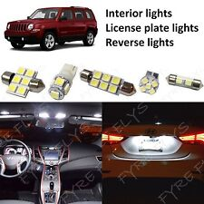 8 White LED lights interior package & Reverse lights for 07-17 Jeep Patriot JP1Z