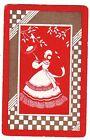 DECO LADIES PARASOL [RED/GOLD] Single Vintage Swap/Playing Card