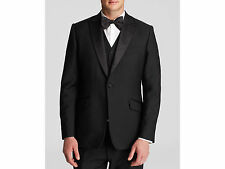 $2499 DUCHAMP LONDON Men BLACK TUXEDO SUIT JACKET SPORT COAT BLAZER SIZE US 38R