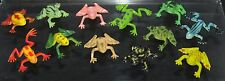12 plastic frogs various shapes & colours toad frog  FREE POST O33 1000+ sold