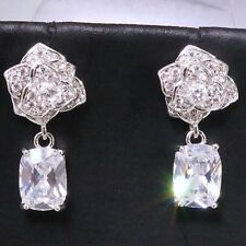 14k White Gold 3 Ct. Cubic Zirconia Earring Studs