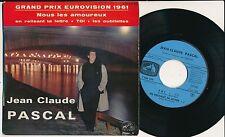 """EUROVISION 1961 45T  EP 7"""" FRANCE JEAN-CLAUDE PASCAL GAINSBOURG BORIS VIAN  PP1"""