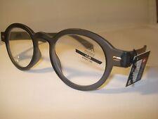 AUTH MONTANA VINTAGE DESIGNER PREPPY ROUND READING GLASSES READERS GREY NEW 2.50