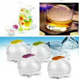 4 Pcs Large Size Silicone Molds Ice Cube Ball Maker Sphere Whiskey DIY Mould
