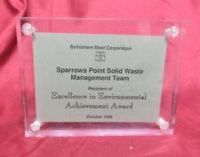 BETHLEHEM STEEL Corporation Excellence AWARD Sparrows Point Management Team 1998
