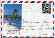 LETTRE CACHET POSTE AUX ARMEES 1988 TIMBRE N° 2511 COMMUNICATION MEZIERES