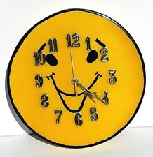 Hand Made Smiley Face Wall Clock
