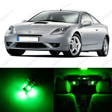 6 x Green LED Interior Lights Package For 2002 - 2005 Toyota Celica