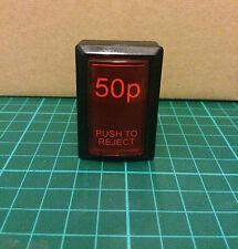 50p MAME Arcade illuminato Pulsante inserisci Moneta credito Raspberry Pi-UK