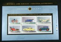 Canada Stamp Issue 1 Historic Land Vehicles Studebaker Full 6-Stamp Sheet - A21E