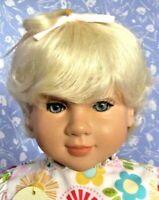 Kemper SUGAREE Pale Blonde Full Cap Doll Wig Size 14-15 Short Bob, Unisex