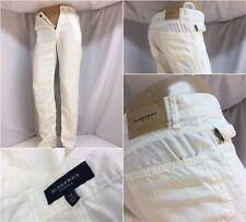 Burberry London Pants Sz 30 White Hemp Flat Front Made Italy Mint YGI 6112