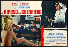 CINEMA-fotobusta IL RIPOSO DEL GUERRIERO b.bardot,VADIM