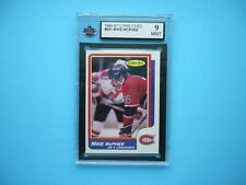 1986/87 O-PEE-CHEE NHL HOCKEY CARD #221 MIKE MCPHEE KSA 9 MINT SHARP+ 86/87 OPC