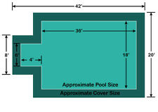 Rectangle Loop-loc II Mesh Pool Safety Cover 18' x 36' w/ 4' x 6' Center Step