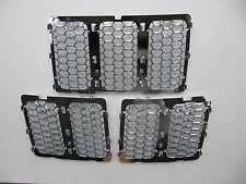 Chrome Front Grille Insert Mesh Honeycomb Trim For Jeep Grand Cherokee 2014-16