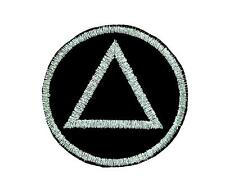 Patch patches backpack embroidered alcoholics anonymous black sobriety logo
