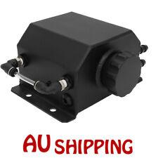 Universal Black 1L Aluminum Engine Oil Catch Tank Reservoir Can Breather Tank