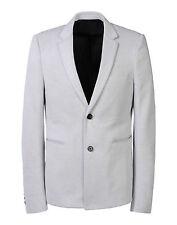 $1765 Authentic KRIS VAN ASSCHE Grey Cotton Blend Blazer Jacket IT-52 US-42