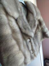 Pelliccia Visone modello bolero vintage grigio perla maniche 3/4 taglia 42.top!