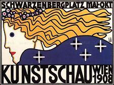 EXHIBITION ART SPRING SHOW HOHENZOLLERN AUSTRIA VIENNA VINTAGE AD POSTER 1694PY