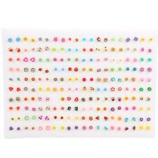 100Pairs/Sets Assorted Polymer Clay Cartoon Fruits Stud Earrings For Women Girls