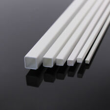 36 x Styrene ABS Square Pipe Tubes Hollow Sections 500mm #ABS02