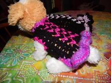 Dog Apparel BLACK Dress Ruffles & BRIGHT NEON DESIGN XXXS