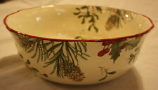 Better Homes & Gardens Heritage Collection Winter Forest Ceramic Serving Bowl