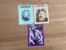 Kenny Rogers Four different sheet music Lady, Lucille and Coward of the County