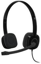 Logitech H151 3.5 mm Analog Stereo Headset with Boom Microphone 981-000587