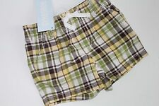 Gymboree Brand New Baby Boys Turtle-y Cute Plaid Shorts Size 3-6 Months Nwt