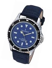 Peugeot Men's 'Blue' Quartz Metal and Canvas Sport Watch, Color:Black (Model: 20