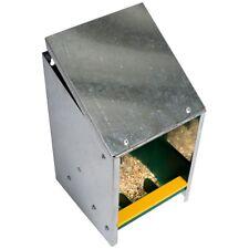 2,5 kg Futtertrog verzinkt für Hühner, Geflügel, Futterautomat mit schrägem Dach