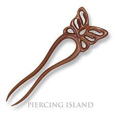 Exclusive Haarnadel Schmetterling Holz Edel Wood Hairpin Handarbeit Design HN254