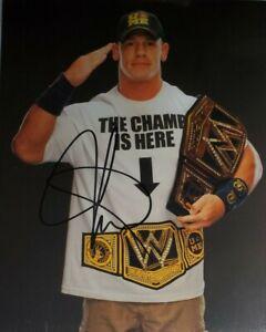 John Cena Hand Signed 8x10 Photo W/ Holo COA WWE