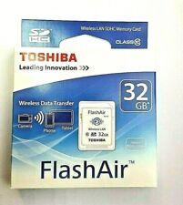 Toshiba FlashAir W-03 32GB Wireless SD Flash Memory Card Wi-Fi Full HD - SD-F32A