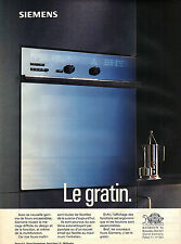 PUBLICITE ADVERTISING  1994   SIEMENS  four encastrable