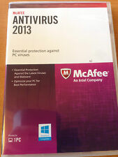 McAfee 2013 Antivirus - PROTECTS ONE (1 PC) - BRAND NEW free UPGRADE TO 2016