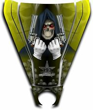 Graphic Decal Kit Canam Commander Can Am Hood Sticker Reaper Revenge Yellow