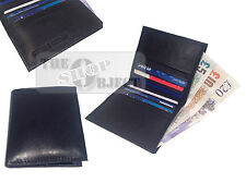 RFID Real Leather Credit Card Wallet Cash Holder Slim Mini Travel Business Money