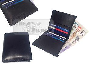 RFID Real Leather Credit Card Wallet Cash Holder Slim Mini Travel Business Money