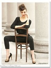 Joanne Kitten Workwear Office Party Holiday Tight Fit Jumpsuits in Black JK-2671