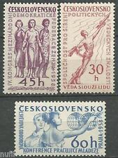 Czechoslovakia yv cekoslovensko # 962/964 mnh political whole.