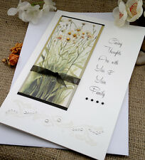 Personalised Handmade Daisies Sympathy Card - With Sympathy For The Loss