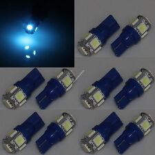 100X Aqua Ice Blue LED License Plate Tag Light Bulbs T10 158 168 194 2825 w5w